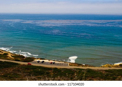 View off the coastline of Cabrillo National Monument in San Diego, California.