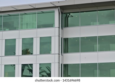 View of office building windows