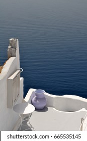 View in Oia on the island of Santorini , Greece