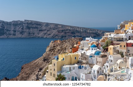 View of Oia - Santorini Cyclades Island - Aegean sea - Greece