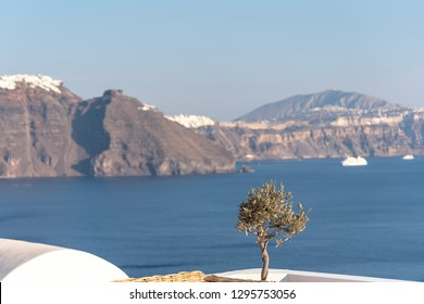 View of Oia village - Aegean sea - Santorini island - Greece