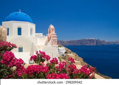 View of Oia village. Santorini, Greece