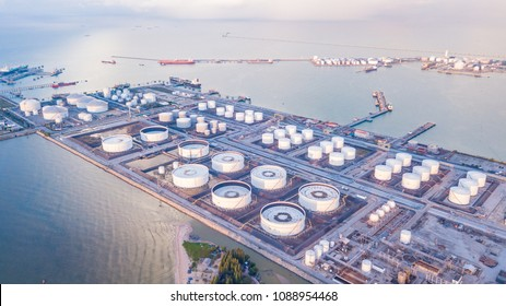 View of oil depot singapore