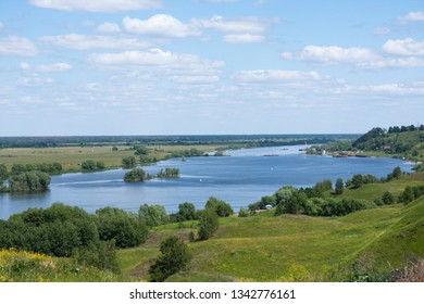 View of the Oka River near the village of Konstantinovo, Ryazan Region, Russia