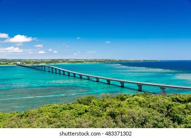 沖縄栗島観測所栗間橋から見る