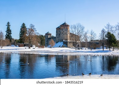 View of The Olavinlinna Castle, Savonlinna, Finland