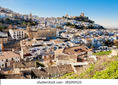 view of old andalusian town. Alcaudete, Spain