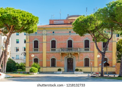 View at the old building of City hall in Cecina, Italy