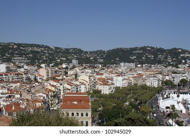 View of old Cannes from the Place de la Castre in Cannes, Cote d'Azur, France, Europe