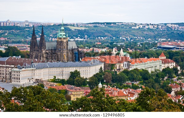 view of the old castle of Prague