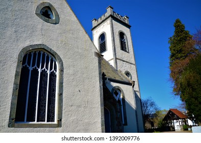 A view of the old church building in Kenmore in rural Perthshire.