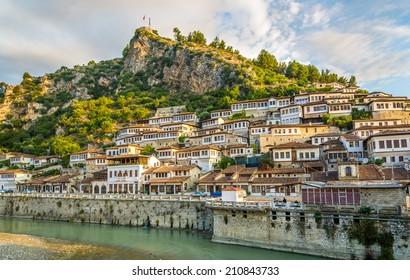 Blick in die Altstadt von Berat - Albanien