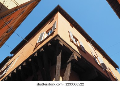 View of the old city centre in Bologna, Italy