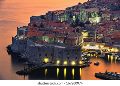 view of an old city of Dubrovnik, Croatia