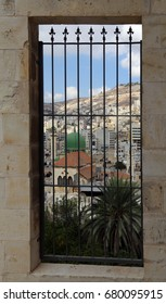 A view of the old city of Nablus, Palestine. View from inside the historic center of the old city.