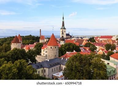 View of old city, Tallinn, Estonia