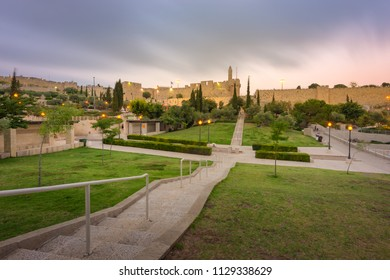A view of the old city from Teddy Park.