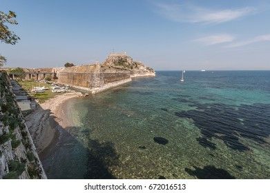 View of the old fortress of Corfu town,Kerkyra,-Greece