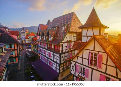 View of old French Style Public Building at, Colmar Bukit Tinggi During Sunrise
