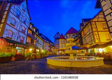 View of old French Style Public Building at, Colmar Bukit Tinggi During Blue Hour