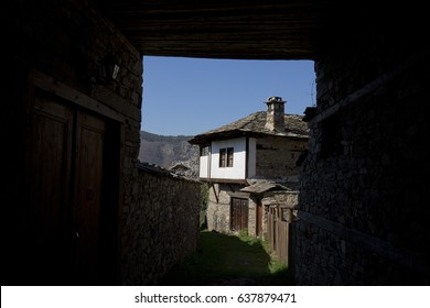 view of old historical mountain village in Bulgaria