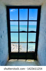 View from an old light house to the ocean in key Biscayne Florida