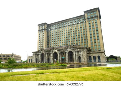 A view of the old Michigan Central Station building in Detroit which served as a major railway depot from 1914 - 1988.