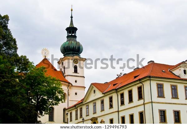 view of the old monastery Brevnov in Prague