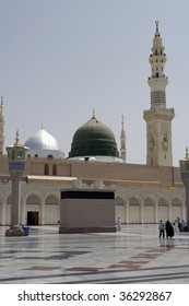 A view of the old Mosque part of Prophet's Mosque in Medina, saudi Arabia