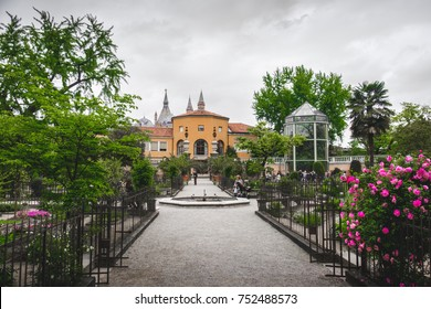 View of the old Orto Botanico di Padova (Botanical Garden of Padua), one of the Unesco word heritage  (Padua, Italy, 24 Apr 2017)