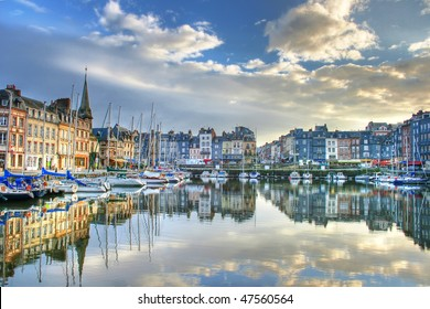 view of the old port of normandy's honfleur