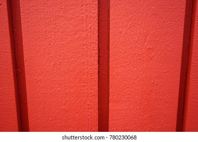 View of old red wall background.