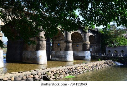 View of an old stone bridge