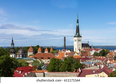 View of Old Town in a beautiful spring day, Tallinn, Estonia