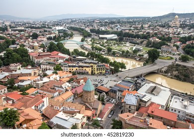 View of the old town in the city of Tbilisi, Georgia - 10/JUL/2016.
