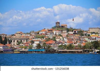view of the old town, Cunda, Ayvalik, Turkey
