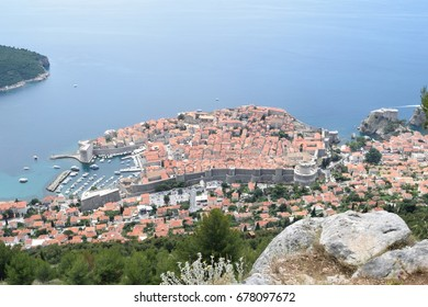 A view of the old town of Dubrovnik, Croatia from the mountains