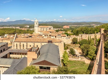 View of the Old Town. Girona. Catalonia. Spain.