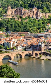 View of the old town of Heidelberg, Germany