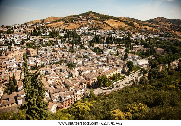 View Old Town Landscape Granada Spain Stock Photo (Edit Now) 620945462