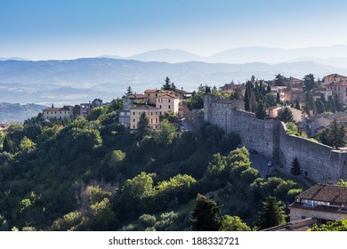 view of old town of Perugia, Umbria, Italy