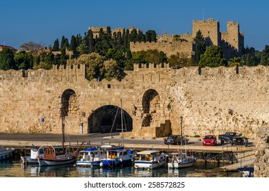 View of the old town of Rhodes Greece