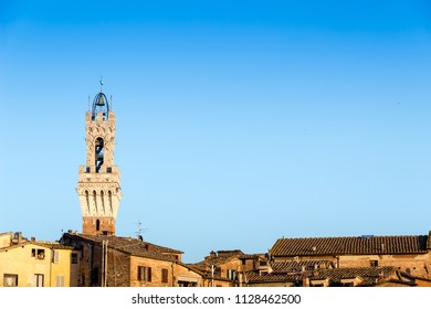 View of the old town of Siena with the Duomo, Italy