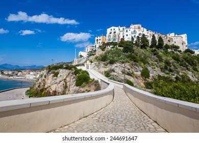 view of old town of Sperlonga, Lazio, Italy