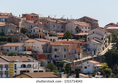 View to the old town of Vrsar, Istria, Croatia