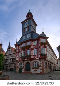 View of the old townhall of Heppenheim, Hesse, Germany
