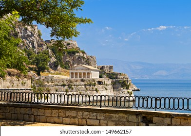 View of the Old Venetian castle at Corfu island in Greece