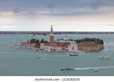 View of old Venice from the top of the Campanile of St. Mark's Square