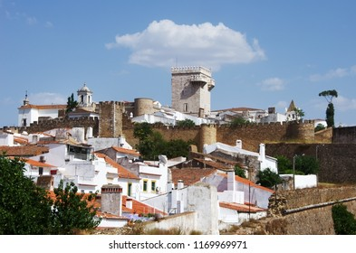 view of a old village in alentejo. Estremoz. Portugal