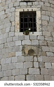 A view of old window in the rampart of the Castle, Dubrovnik in Croatia / old window in the rampart of the Castle